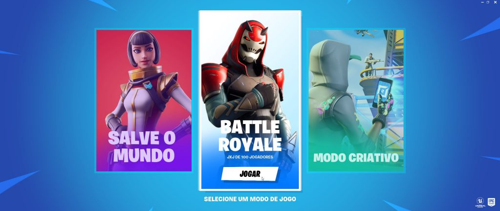 Menu principal de Fortnite